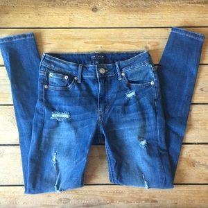 NEW Just USA Kharissa Distressed Skinny Jeans